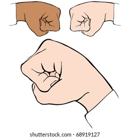 An image of a fist bump handshake.