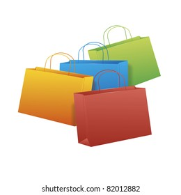 An image of four nice shopping bags