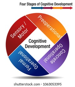 An image of a Four Stages of Cognitive Development Chart.