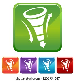 An image of a Funnel Chart icon button set.