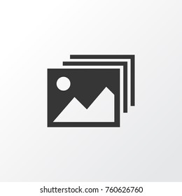 Image Gallery Icon Symbol. Premium Quality Isolated Image Gallery Icon Element In Trendy Style. Vector Illustration of Image, Photo and Album Meaning Concept.