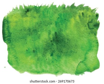 Image of grass, made watercolors - nice spring or summer background/ trace auto.