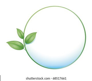 An image of a green nature concept icon