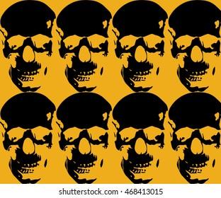 Image halloween skull, hardcore style