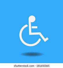 Image of a handicap symbol on a colorful blue background.
