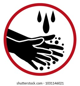 An image of a Handwashing Soap Water Clean Hands Icon.