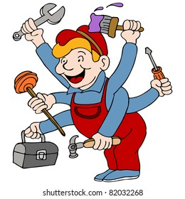 clipart handyman images stock photos vectors shutterstock rh shutterstock com clipart handyman with tools clipart handyman with tools