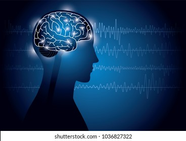 Image of human and electroencephalogram