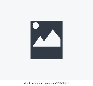 Image icon isolated on clean background. Picture concept drawing image icon in modern style. Vector illustration artboard image icon for your web site mobile logo app UI design.