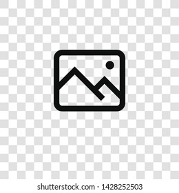 image icon from miscellaneous collection for mobile concept and web apps icon. Transparent outline, thin line image icon for website design and mobile, app development
