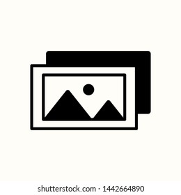 Image icon. No picture available icon. Gallery icon. New trendy vector symbol