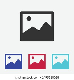Image icon vector. Photo. Picture Sign