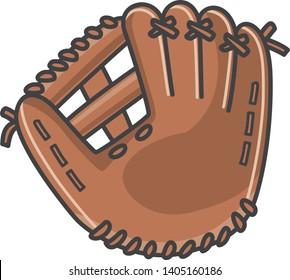 Image illustration of baseball glove