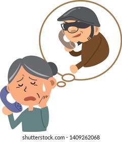 Image illustration of a criminal who is fraudulent to senior women