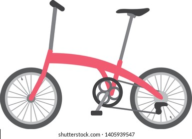 Image illustration of folding bicycle