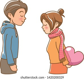 Image illustration of a girl to confess