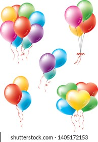 Image illustration set of balloons