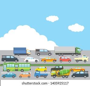 Traffic Jam Cartoon Stock Vectors Images Vector Art Shutterstock