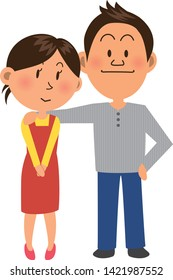 Image illustration of young couple
