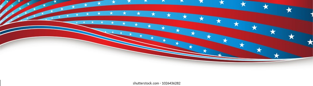 An image of a Indepedence Day Fourth of July USA Banner.