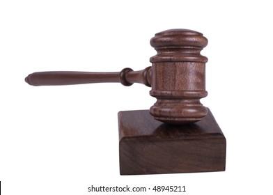 image of a judges gavel isolated on white background