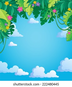 Image with jungle theme 4 - eps10 vector illustration.