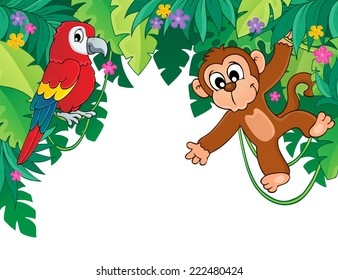 Image with jungle theme 5 - eps10 vector illustration.