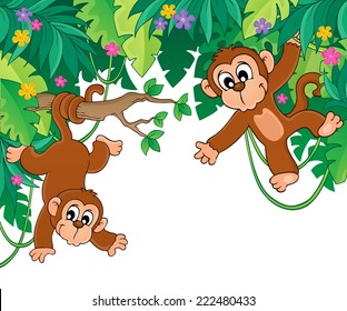 Image with jungle theme 6 - eps10 vector illustration.