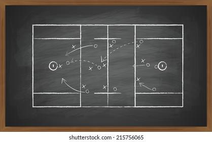 image of lacrosse field on green board. Transparency effects used.