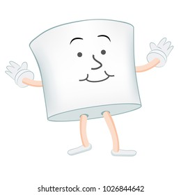 An image of a Marshmallow Cartoon Character isolated on white.