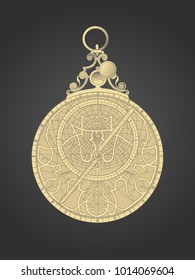 The image of a medieval astrolabe