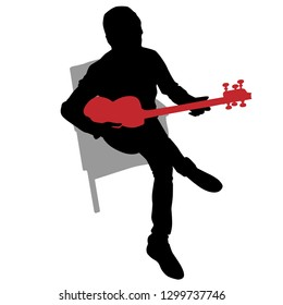 An image of a Musician Persian Tar Silhouette.