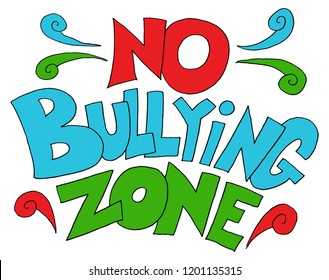 An image of a No Bullying Zone Words.