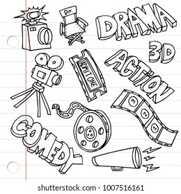 An image of Notebook Paper Entertainment Drawings set.