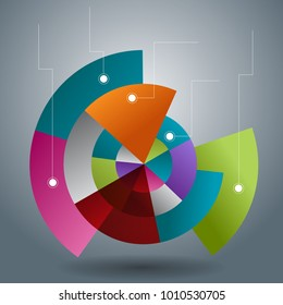 An image of a Overlapping Transparent Pie Chart Slices business infographic.