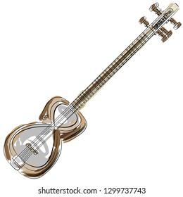 An image of a Persian Tar Setar String Instrument.