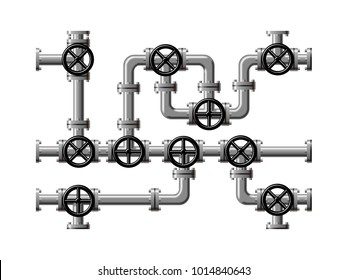 Image of piping composed of pipes and valves.