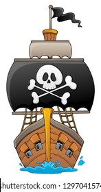 Image with pirate vessel theme 1 - eps10 vector illustration.