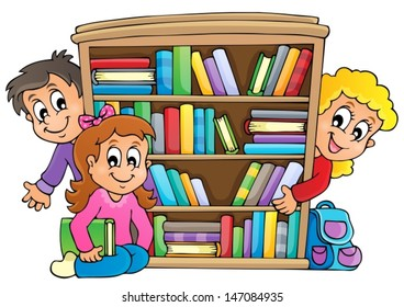 Royalty-Free Bookshelf Clipart Stock Images, Photos & Vectors ...