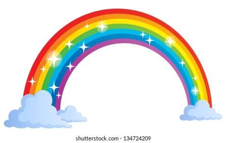 Image with rainbow theme 1 - eps10 vector illustration.