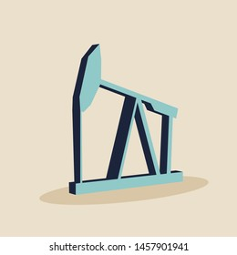 Image relative to oil mining industry. Oil pump isometric icon