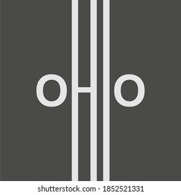 Image relative to USA travel. Ohio state name in geometry style design. Creative vintage typography poster concept.