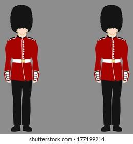 An image of a royal british guard.