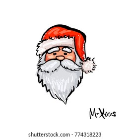 An image of Santa Claus for a postcard.