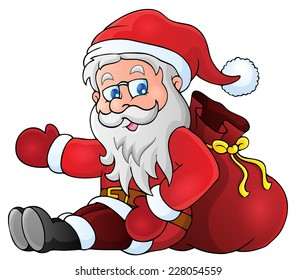 Image with Santa Claus theme 1 - eps10 vector illustration.