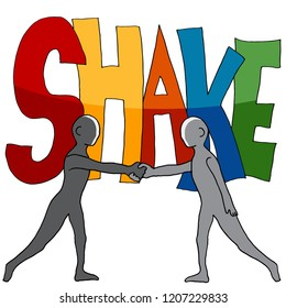 An image of a Shake Word Two People Shaking Hands.