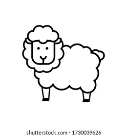 Image of a sheep. Funny image to line.