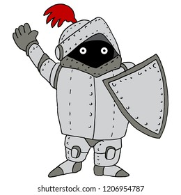 An image of a Short Knight Wearing Armor and Shield.