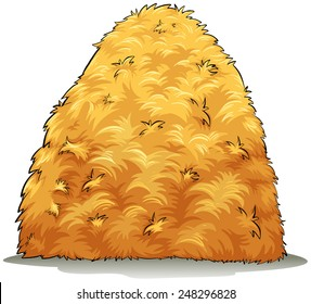 An image showing a haystack on a white background