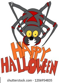 An image of a Spider Monster Happy Halloween.